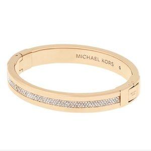 NWT authentic MK gold tone pave bracelet